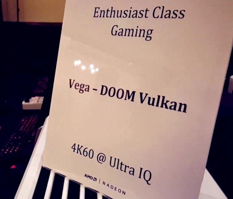 AMD VEGA: Doom 4K/Ultra实机演示,性能超过GTX1080 10%