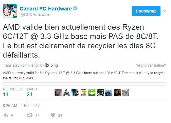 AMD Ryzen 6C/12T版本已证实存在
