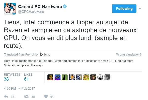 面对Ryzen的到来,Intel已经开始慌了,紧急出样新U