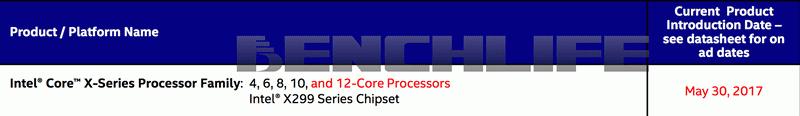 提供 12 核心處理器選項,Intel X299 平台確定在 Computex 2017 亮相