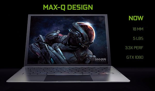 NVIDIA 推出基于 GTX 1080 的「Max-Q」游戏本参考设计
