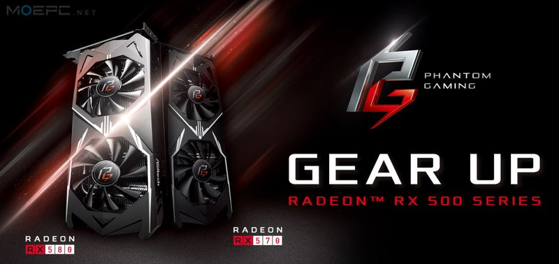 ASRock 华擎 Phantom Gaming Radeon RX 500 系列显卡